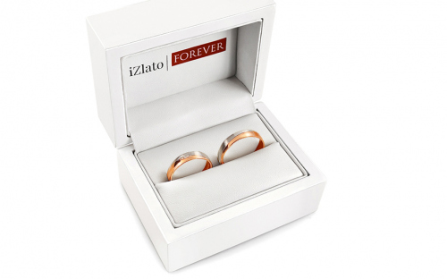 Wedding Bands with Stones width 4,5mm - STOB275R - in a box