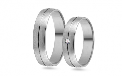 Wedding bands with stones width 5mm - RYOB188