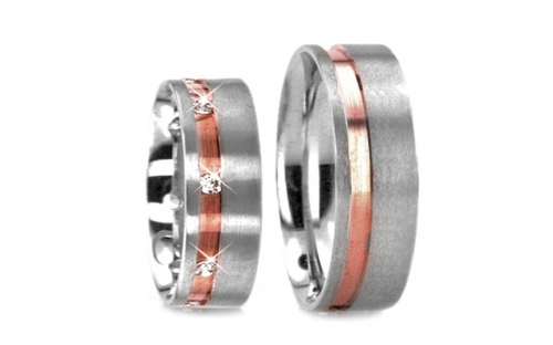 Wedding bands with stones width 5mm - RYOB084