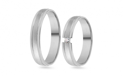 Wedding bands with stones width 5mm - RYOB073