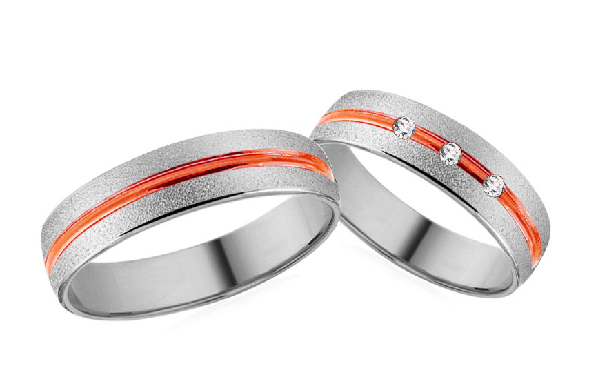 Wedding bands with stones width 5mm - RYOB070