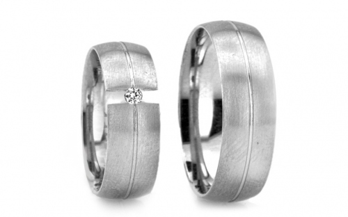 Wedding bands with stones width 5mm