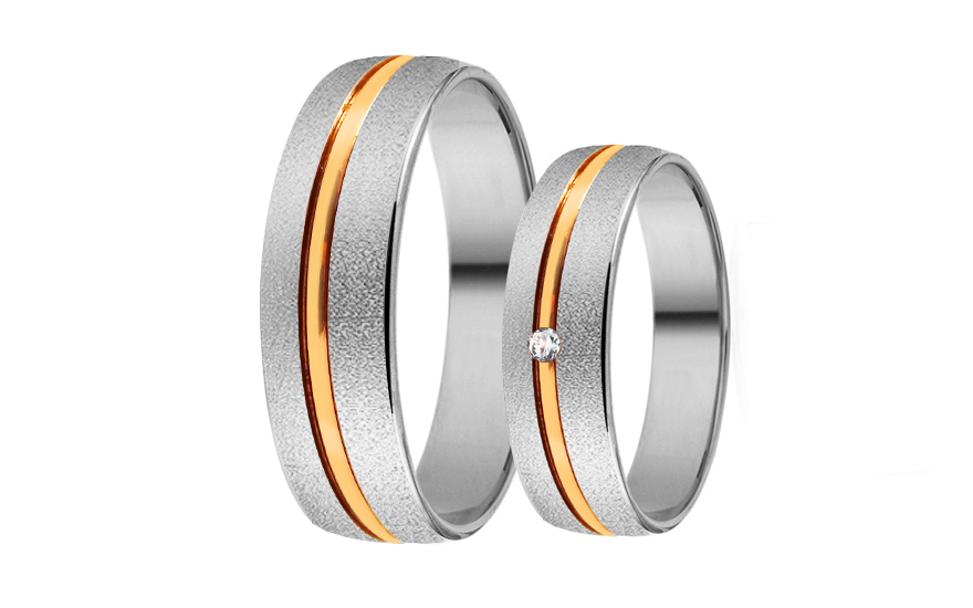 Wedding bands with stones width 5mm - RYOB259