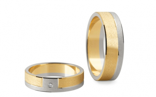 Wedding bands with stones width 5mm - STOB006-5