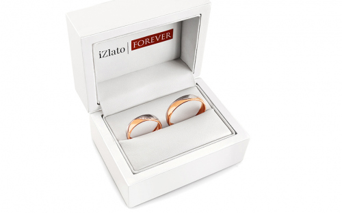 Wedding bands with stones width 5mm - STOB276R - in a box