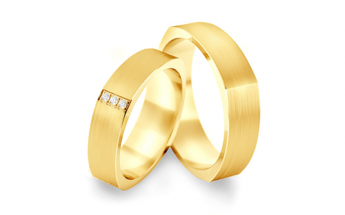 Wedding bands with cubic zirconia width 5.2 mm - STOB193