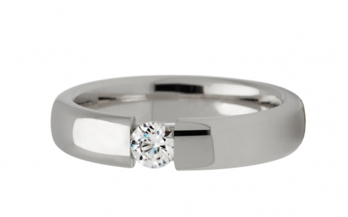 Wedding rings with cubic zirconia width 4.5mm - STOB161