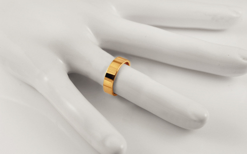 Wedding rings yellow gold width 5 mm - STOB10001