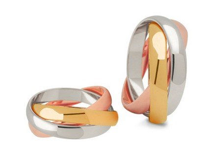 5mm/0.20'' Three Tone Wedding Bands