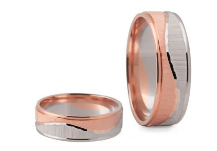 Wedding Bands Two Tone width 5,5-6 mm