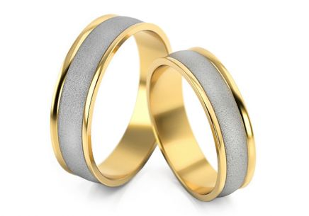 Wedding Bands Two Tone width 5-7 mm