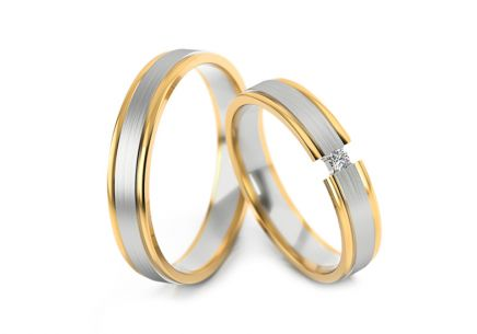 Wedding Bands with Stone Width 4-6 mm