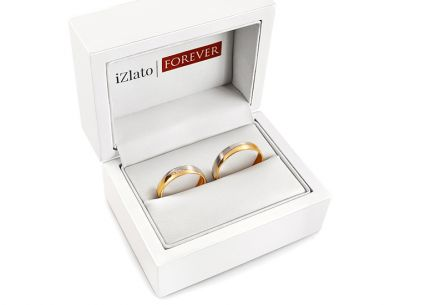 Wedding Bands with Stones width 4,5mm