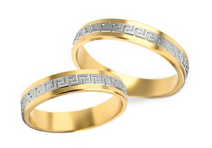 Wedding rings Antique pattern width 4 to 5 mm