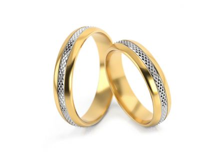 Wedding rings patterned width 4.3 to 5 mm