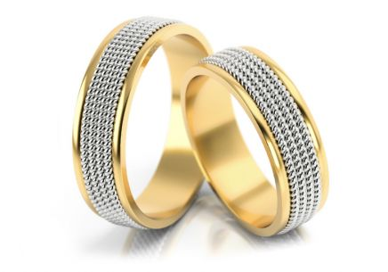 Wedding rings spiral pattern width 6 to 7 mm