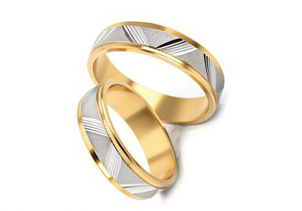 Wedding rings with pattern width 4 to 6 mm