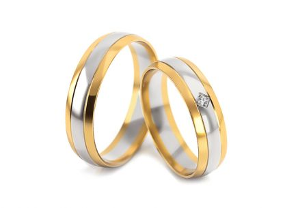 Wedding rings with stone width 5 to 7 mm