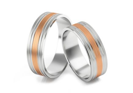 Wedding rings with stripe width 5 to 7 mm