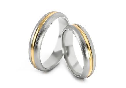Wedding rings without stones width 4 to 6 mm