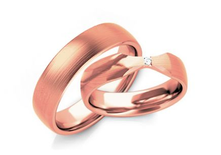 Wedding Bands with Zircon width 4-10 mm