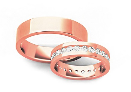 Wedding rings with stones 5 mm