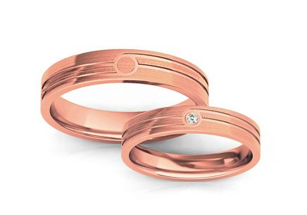 Wedding rings with stone width 4 to 10 mm