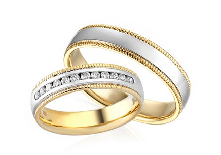 4.5mm/0.18'' Yasmine Diamonds Collection 0.240 ct Diamond Wedding Bands