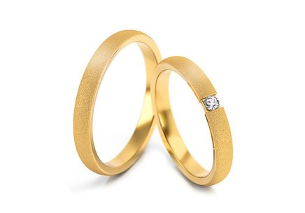 Wedding rings with diamond 0.030 ct width 3 mm