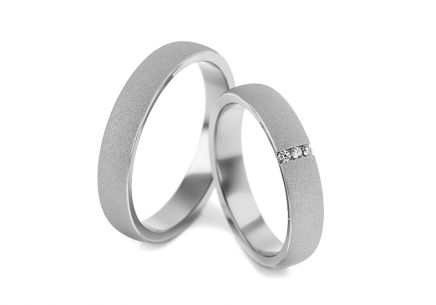 Wedding rings with diamonds 0.030 ct width 4 mm