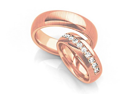 Wedding rings with diamonds 0,330 ct width 6 mm