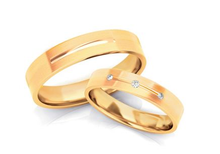 4mm/0.16'' Zircon Wedding Bands