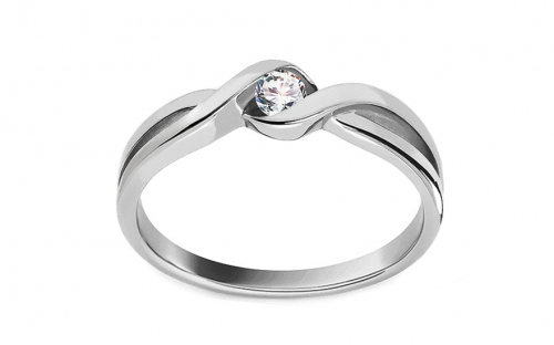 "White Gold Engagement Ring ""Princess 1"" - CSRI2087A"