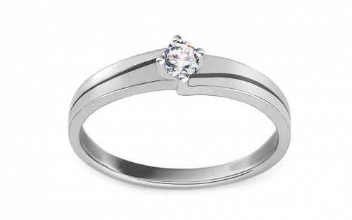 White Gold Engagement Ring with Zircon Dallya - CSRI2101A
