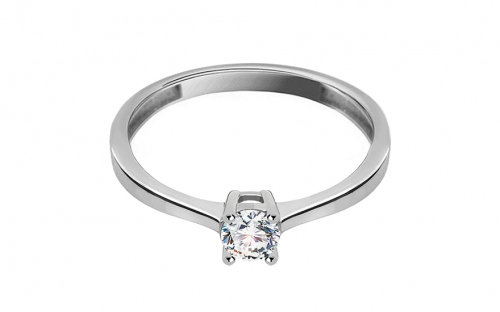 White Gold Engagement Ring with Zircon Dyanne - IZ13289A