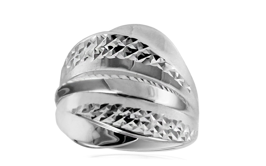 Women's Gold Engraved Ring - IZ10709A