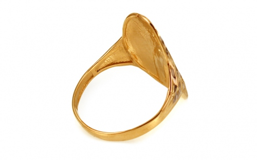 Women's Gold Engraved Ring - IZ10713