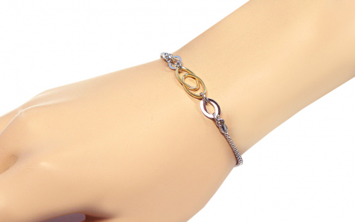 Women's Gold over Silver Bracelet - IS463N