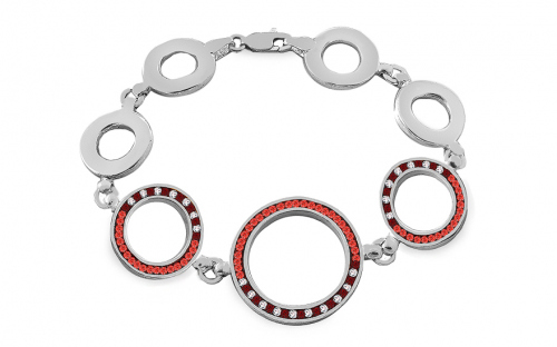 Women's silver bracelet with Swarovski zircons