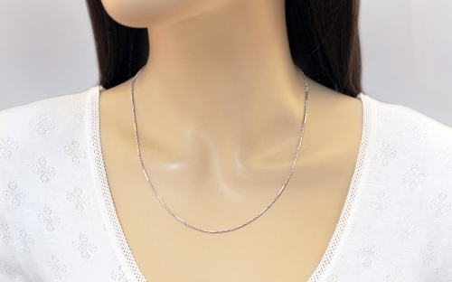 Women's Sterling silver necklace 1 mm - IS1221